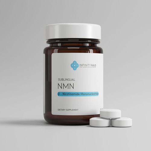 Minimalist supplement bottle