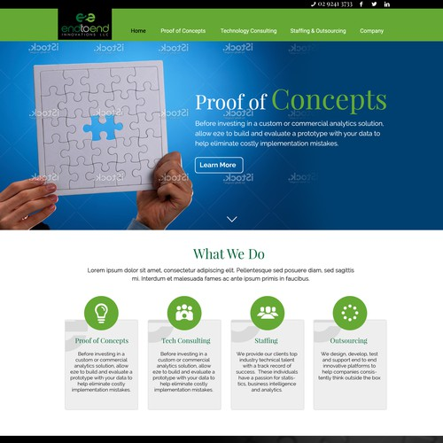 website design for an consultancy company