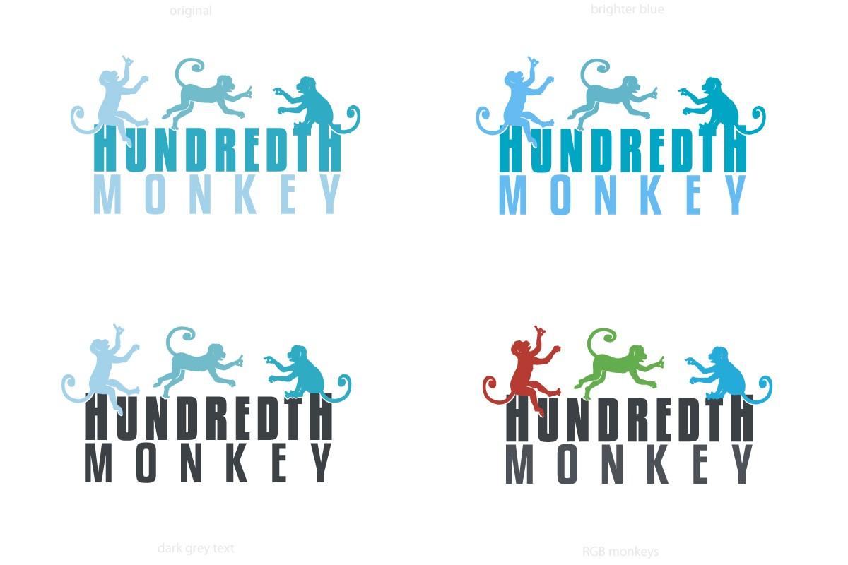 Help Hundredth Monkey with a new logo and business card