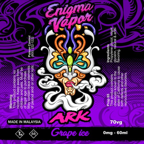 Label for Enigma Vapor