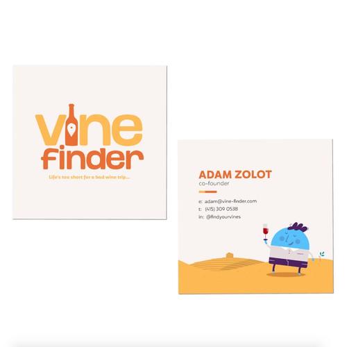 Fun Square Business Card Design