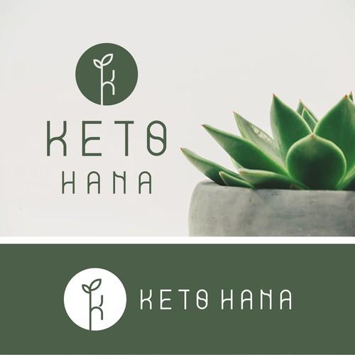 Monogram logo for KETO HANA.