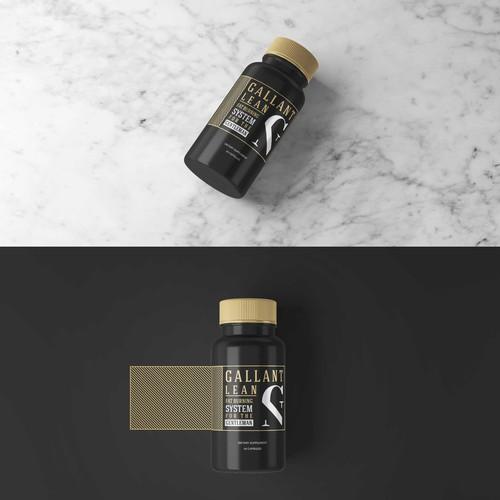 Bold & Minimalistic Premium Supplement Label