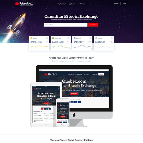 Bitcoin Market Homepage Redesign