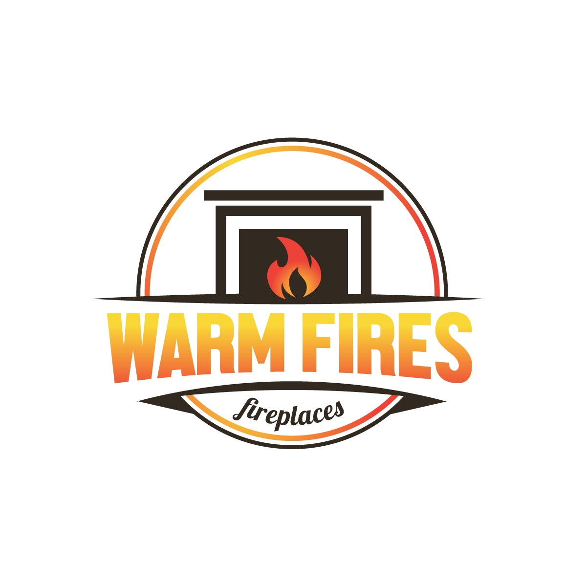 Design a logo for our store selling gas and electric fireplaces targeted towards established homeowners