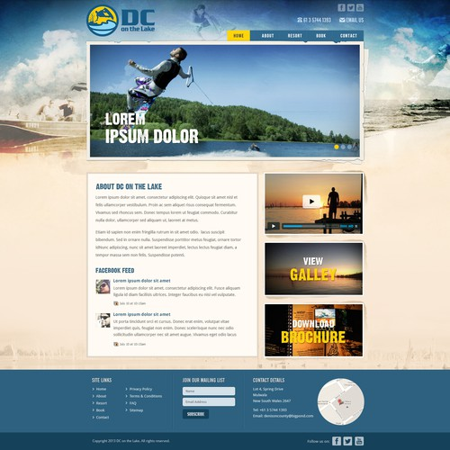 DC on the Lake needs a new website design