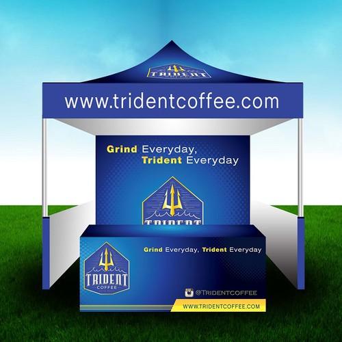Trident Coffee Banner Design