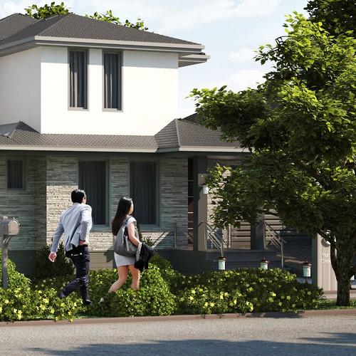 Cottage architectural visualization