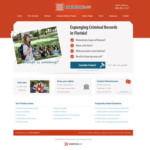 Help ROBERTSON LAW with a new website design