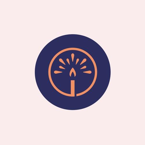 Candle Light Logo Concept
