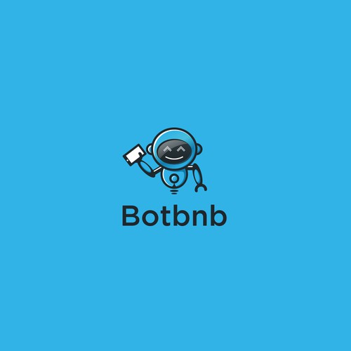 Robot logo for the botbnb company