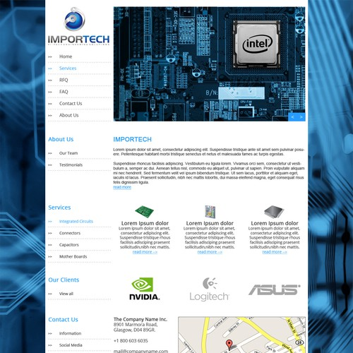 New website design wanted for ImporTech, Inc.