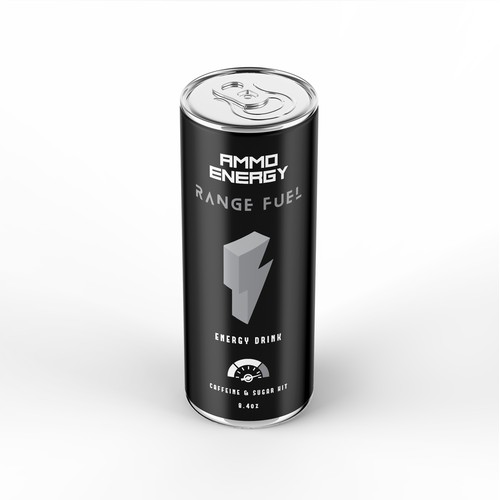 Can Label Design For Energy Drink