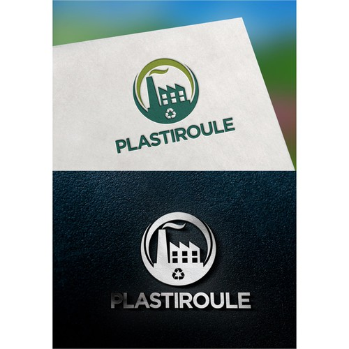 Create an eco-friendly logo for Plastiroule, a manufacturing company