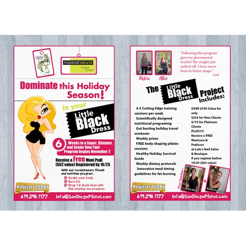 Little Black Dress Contest and postcard