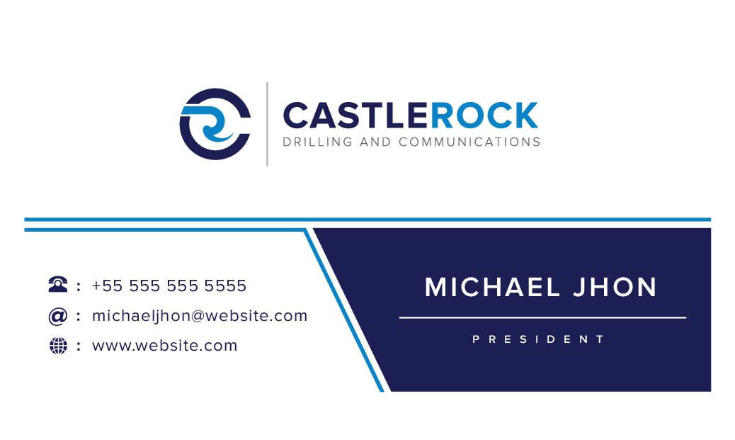 CastleRock Drilling and Communications business card design