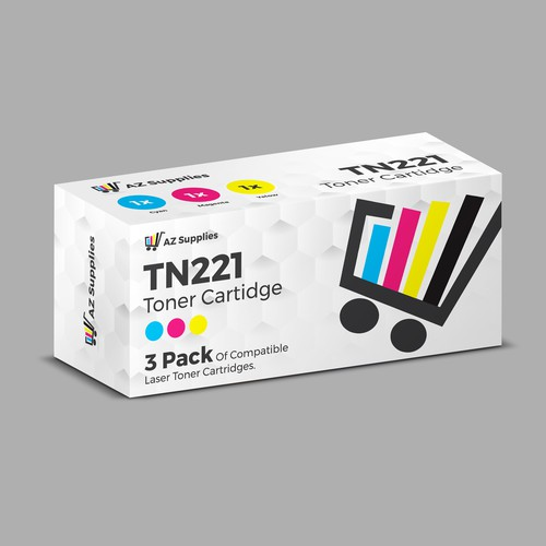Toner cartridge box design