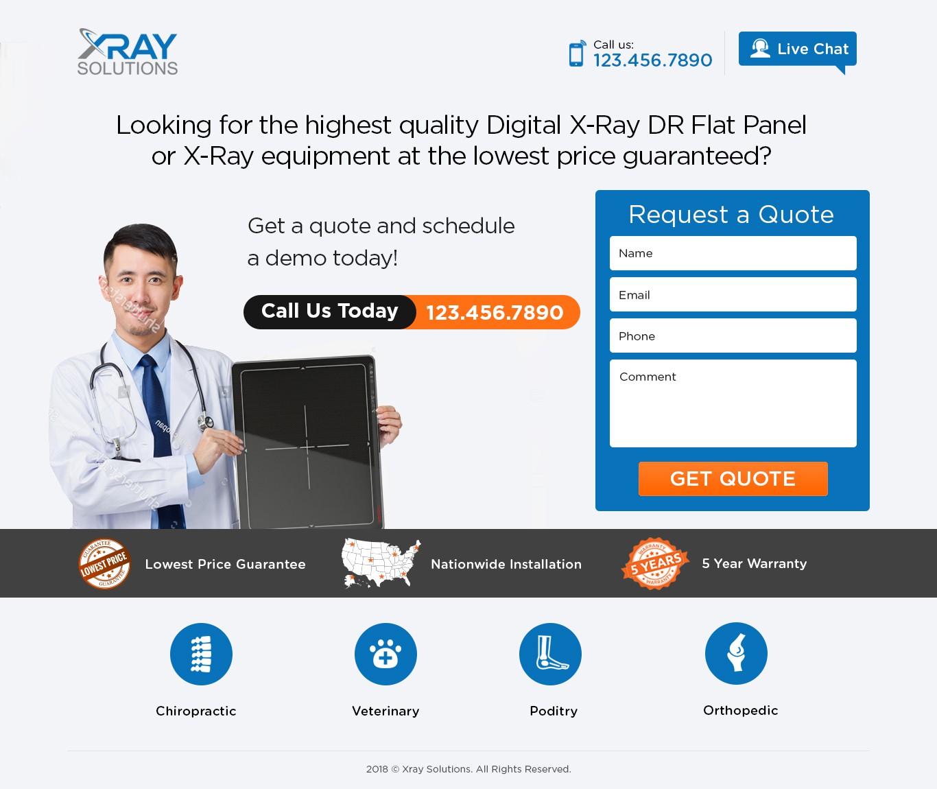 Digital Xray Landing Page