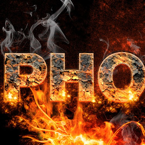 Cylindrical tube needing fiery Phoenix bird burning words for BBQ product.