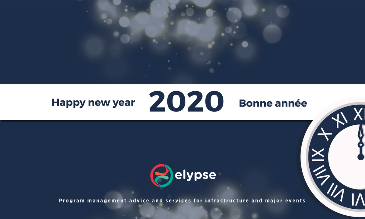 New year card 2020