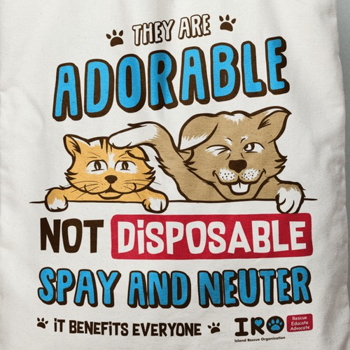 They are adorable not disposable, IRO campaign