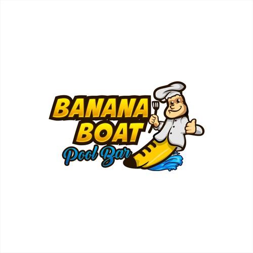 Banana boat pool bar