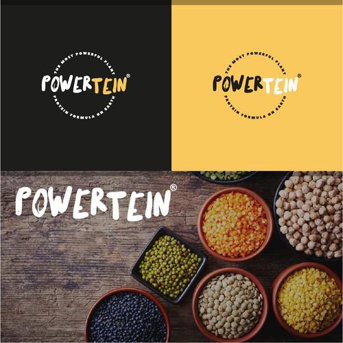 Powertein Logo design