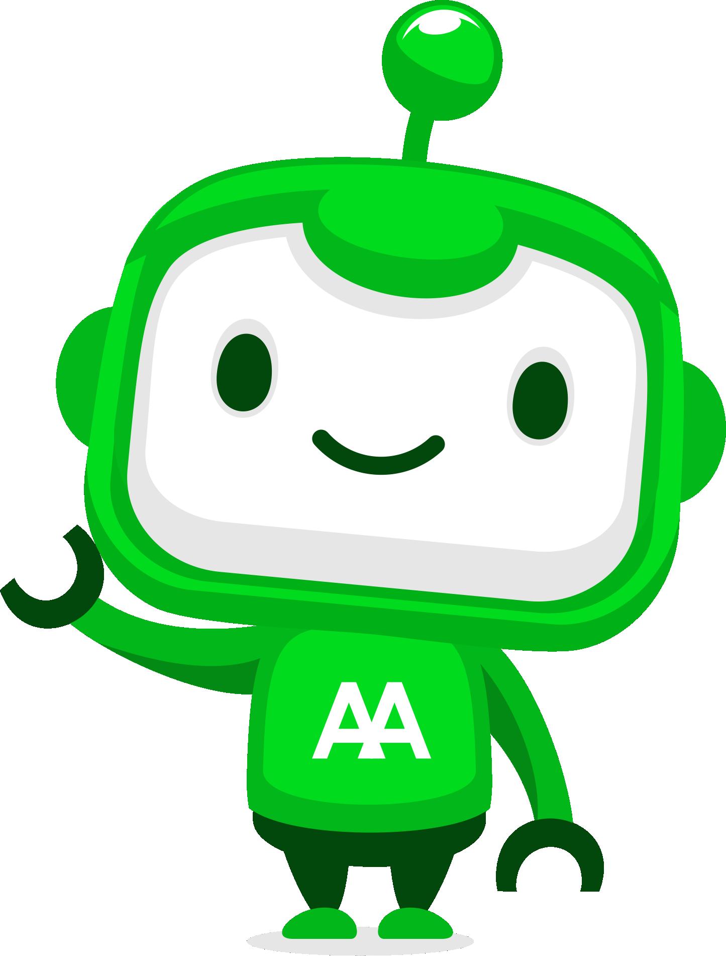 Friendly Robot character design for mobile app