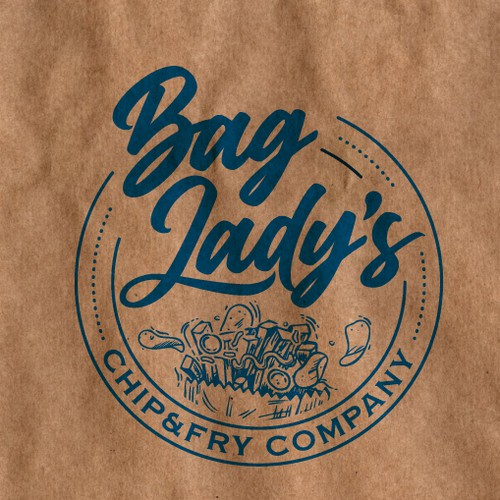 Powerful restaurant logo for Bag Lady's