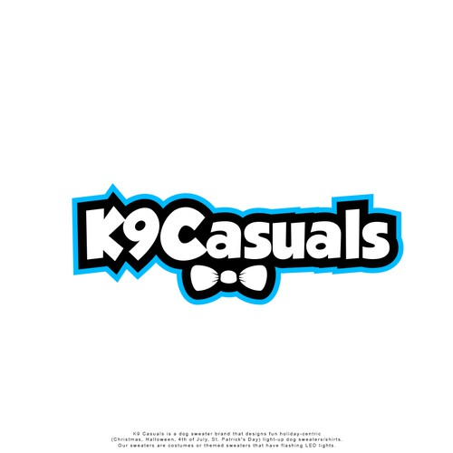 Playful Bold Logo concept for K9 Casuals