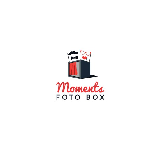 "Logo concept for ""Moments foto box"""