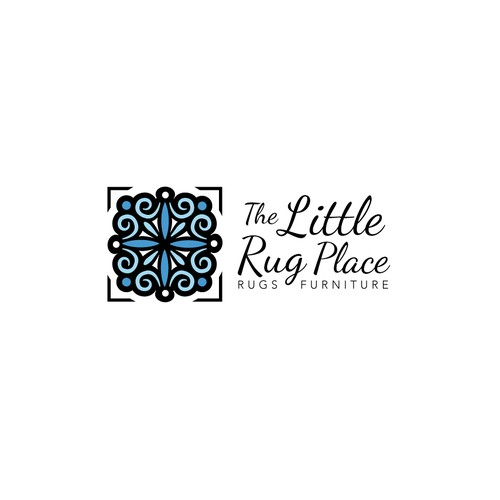Create the next logo and business card for The Little Rug Place