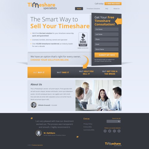 Timeshare Specialists needs a new website design