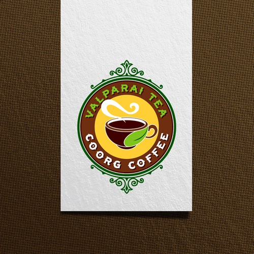 vintage logo for South Indian Filter Coffee and Tea Kiosk