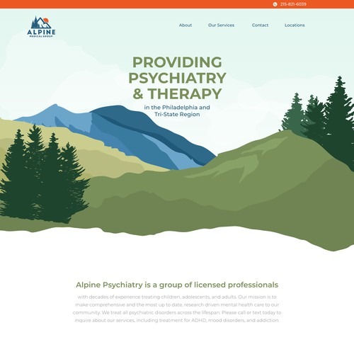 Therapy Website with Outdoor Twist