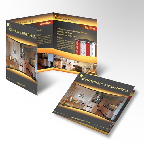 Brochure Design/ Projektflyer für Appartementhaus
