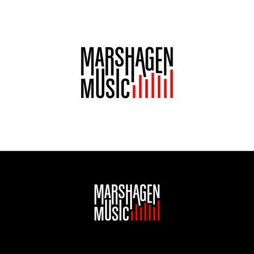 An Acoustic Guitar Music Production Company Logo