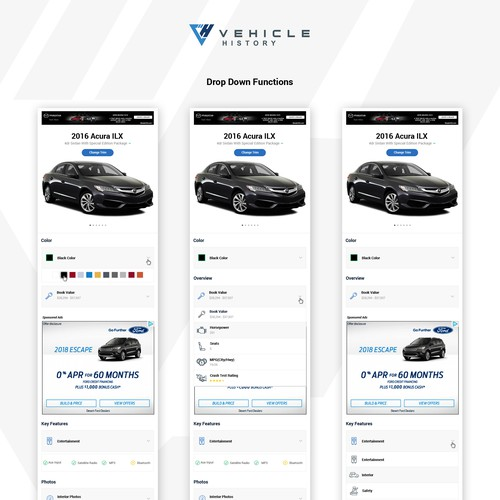 Vehicle History Mobile Trim Page