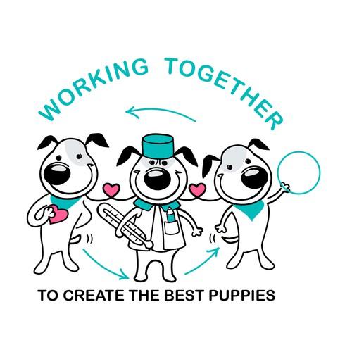 puppies illustration