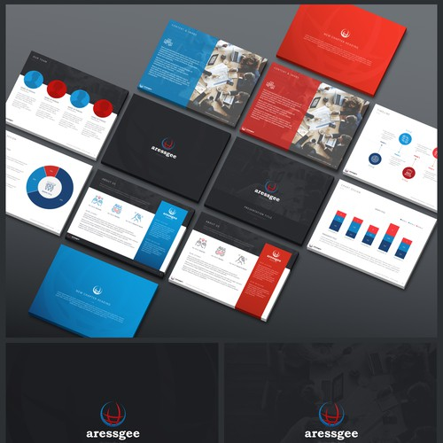 3:4 Powerpoint Template for Sale