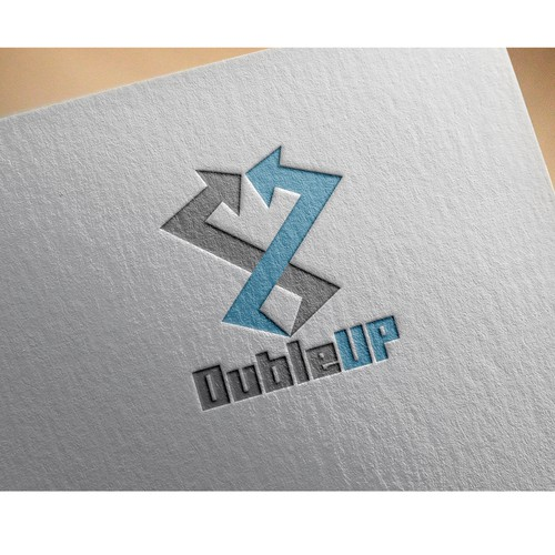 Bold logo concept for dubleup