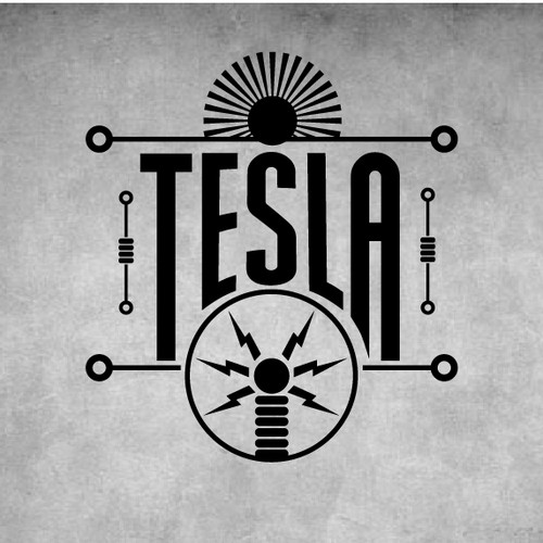 Logo for a bar called Tesla