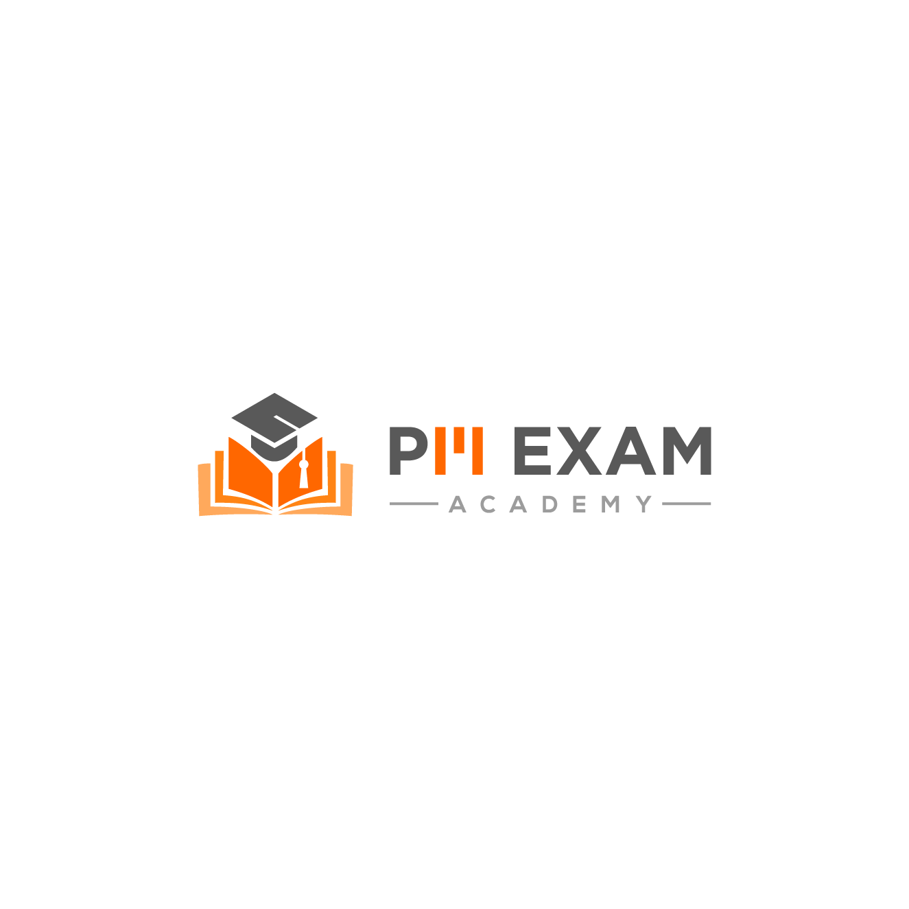 Fun yet professional logo for a certification exam prep site