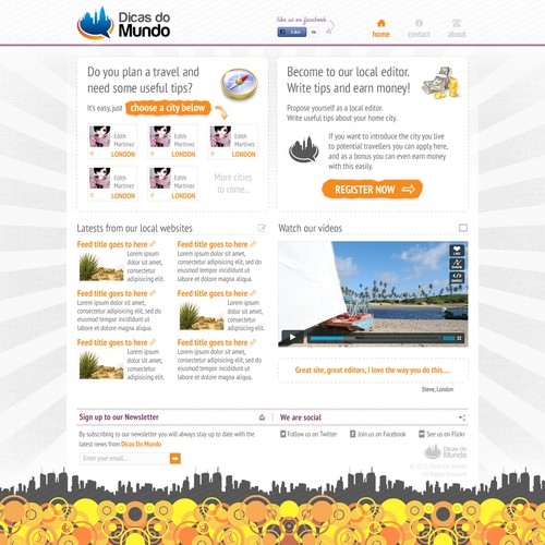 Dicas do Mundo needs a new website design