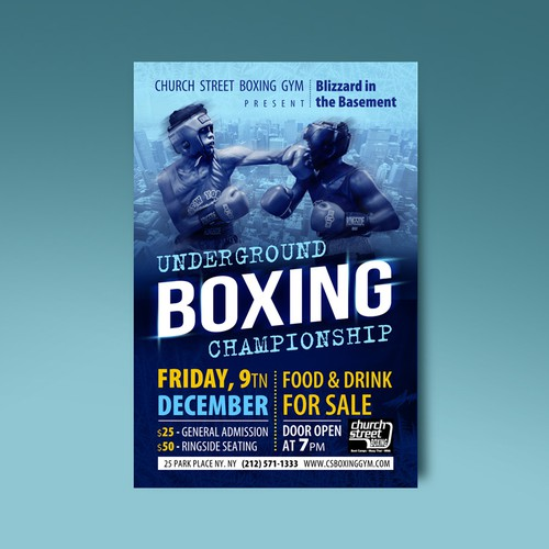 Boxing match poster
