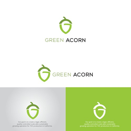 Logo concept for GREEN ACORN
