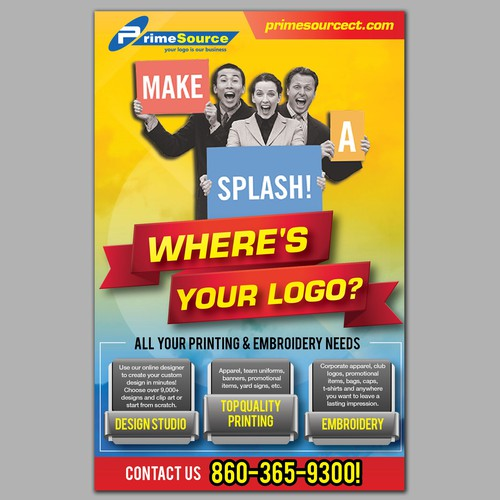 postcard for PrimeSource - printing, embroidery, promotional products