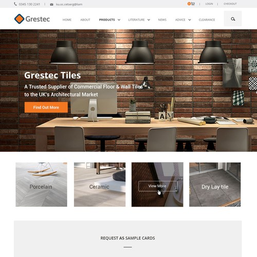 Webdesign for tile company