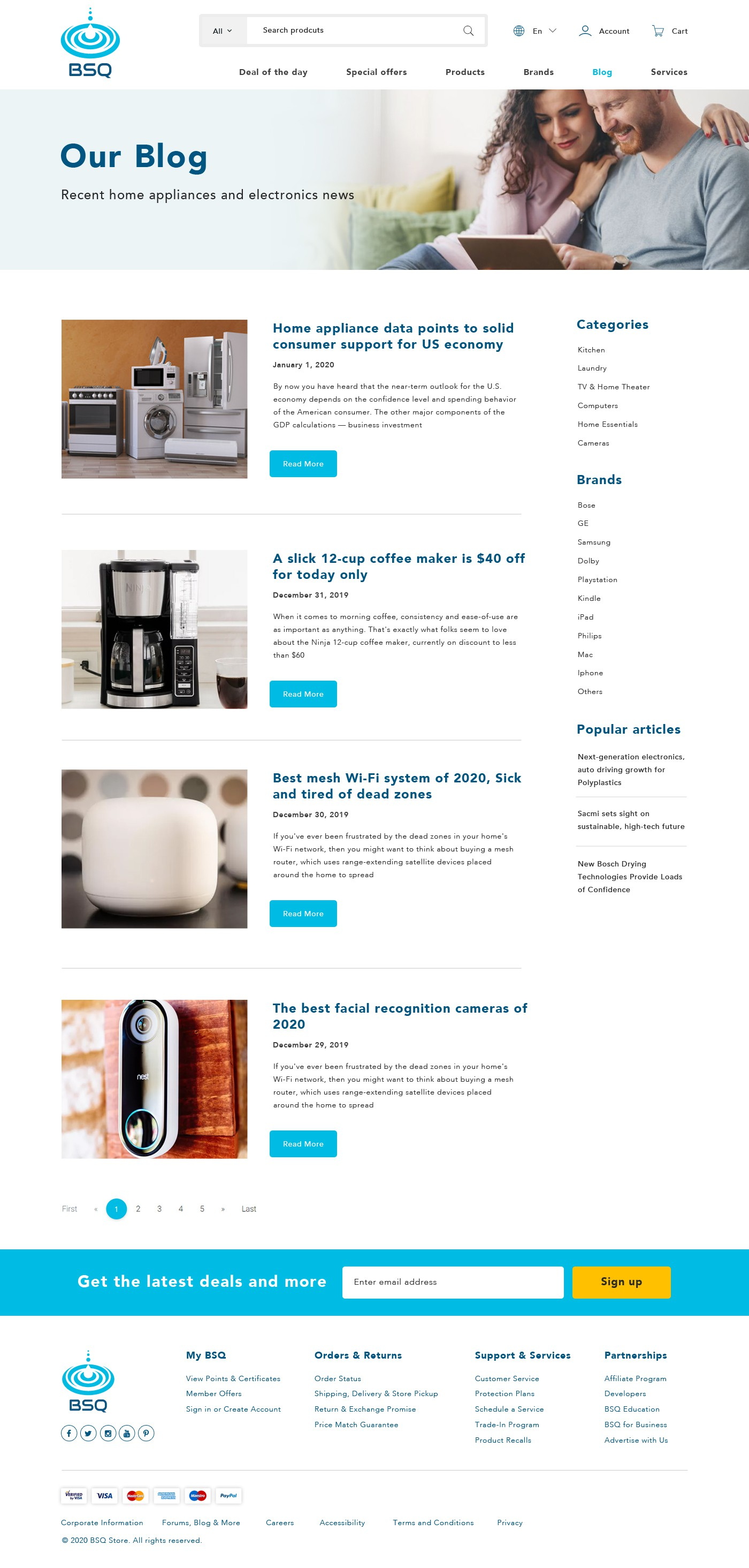 Need a new web design for an e-commerce BSQ Store. Electronics and appliances Store