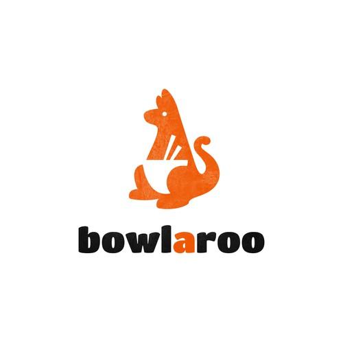 Creative logo for BowlAroo.